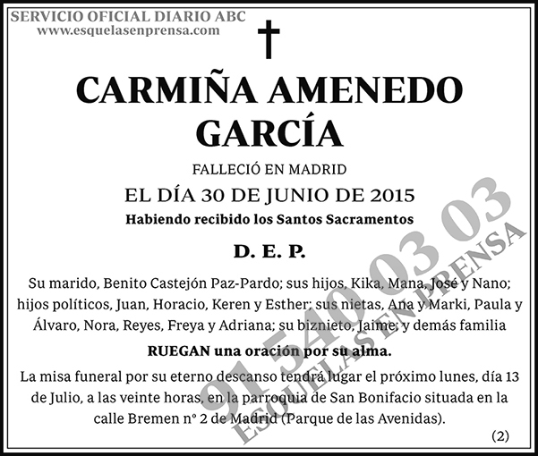 Carmiña Amenedo García
